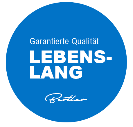 Lebenslanges Qualitätssiegel Berther